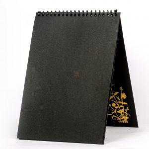Black paper sketchbook